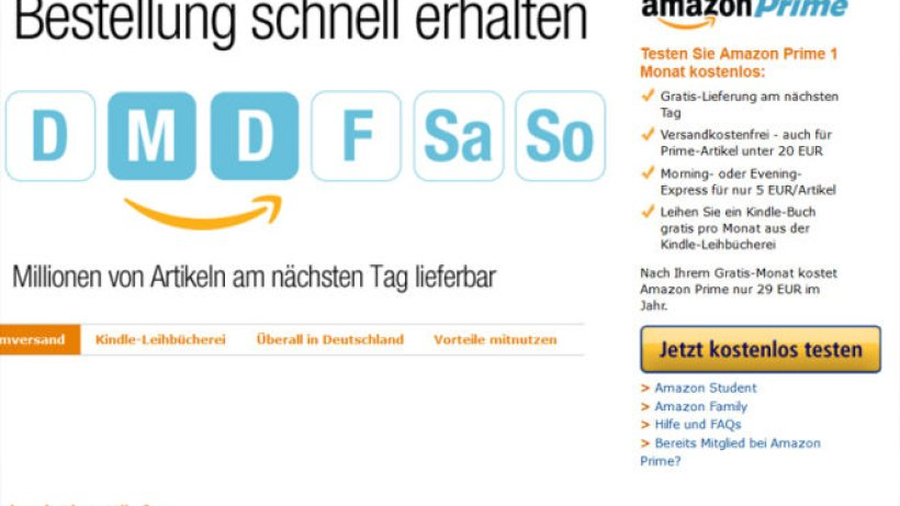 Amazon Evening Express Kosten
