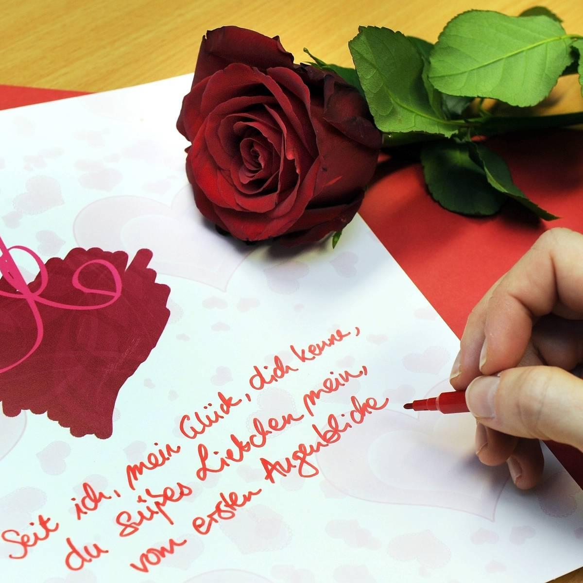Weinen schöne liebesbriefe zum 15 Verschiedene