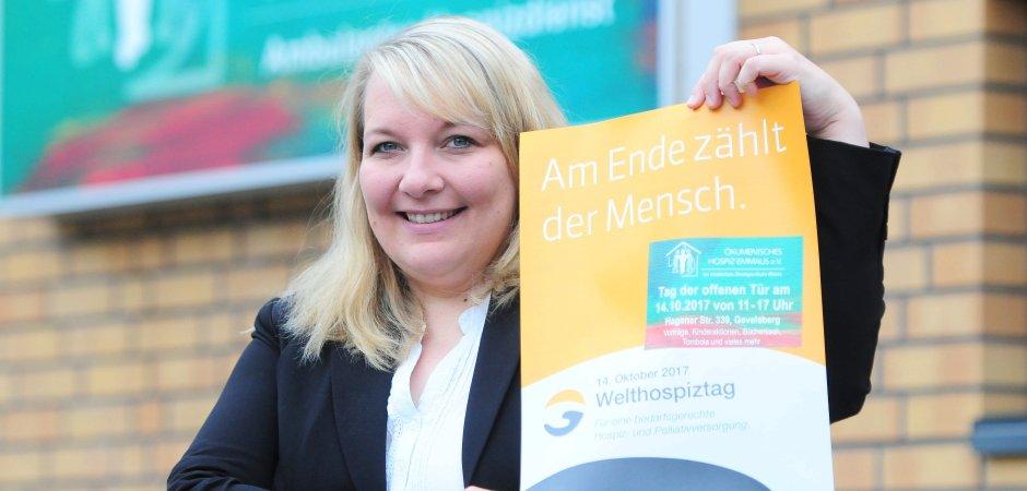 Tuija Minor ist seit dem Frühjahr Geschäftsführerin des Ökumenischen Hospiz' Emmaus, das aus Gevelsberg für den gesamten südlichen Ennepe-Ruhr-Kreis zuständig ist.