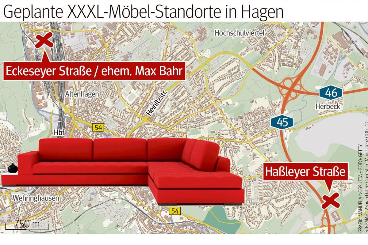 Große Möbelmarkt Konkurrenz Rund Um Hagen Wpde Hagen
