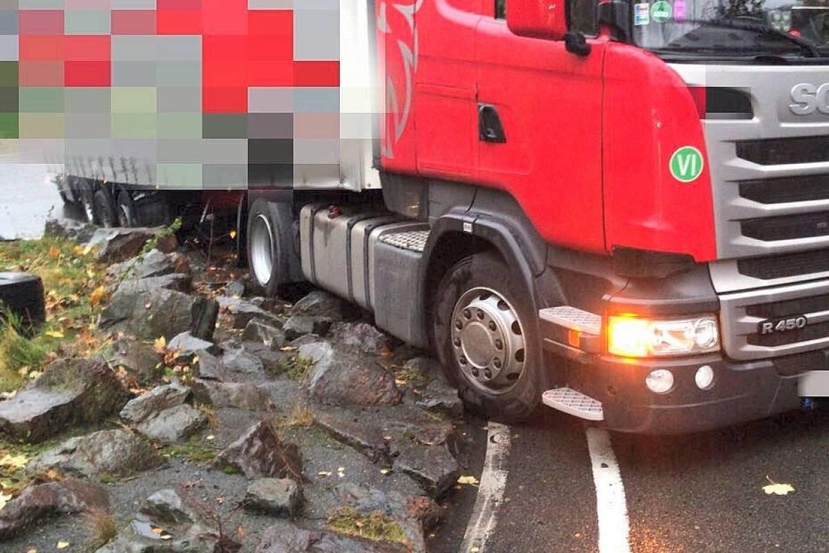 LKW-Fahrer mit großen Schwänzen
