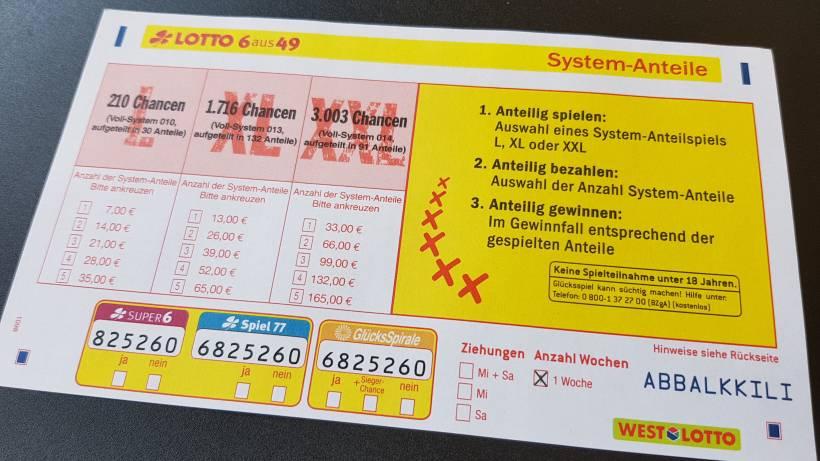 2 4 Millionen Euro Lotto Systemanteilschein Raumt Ab Wp De