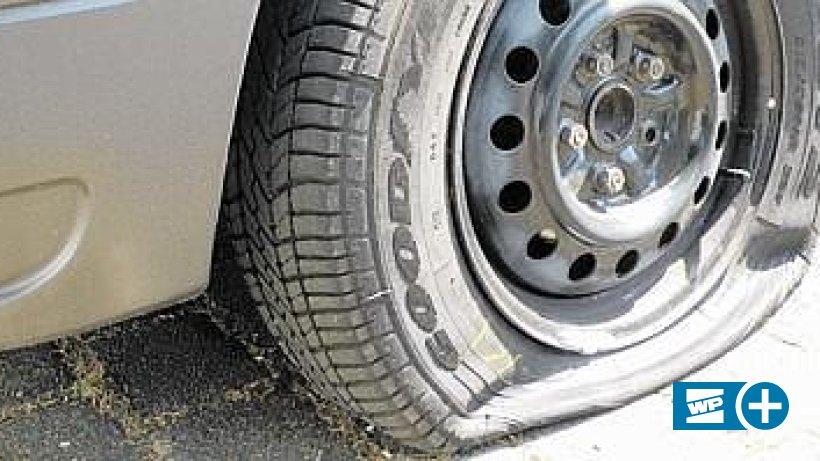 Zerstochene Reifen