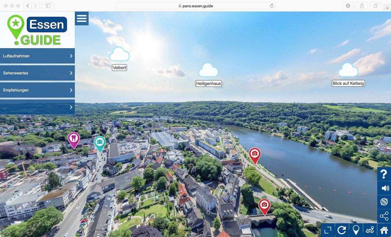 Blick aufs 360-Grad-Panorama über Essen.