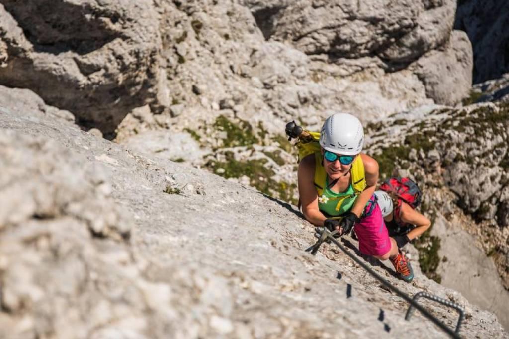 Klettersteig Achensee : Via ferrata achensee climbing