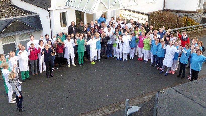 Aktion der Mitarbeiter macht Mut fürs Krankenhaus Winterberg - Westfalenpost