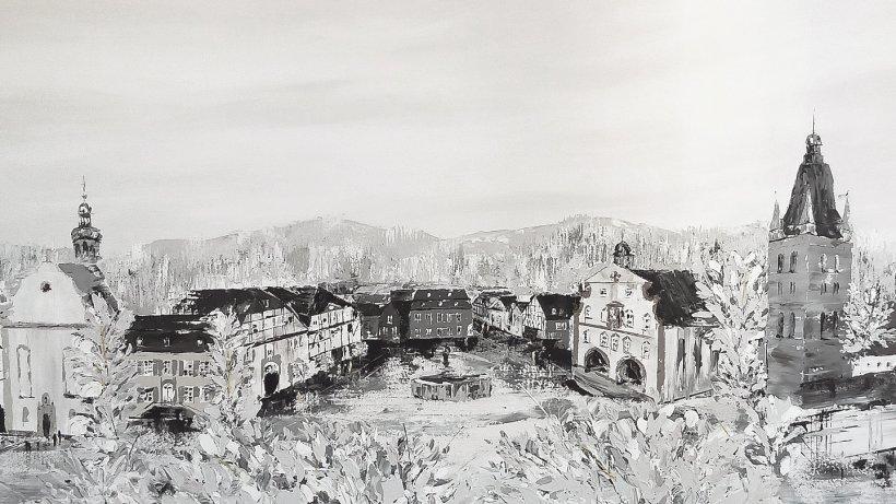 Große Stadtansicht von Brilon als malerische Herausforderung - Westfalenpost