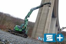 Siegen: Erste Bohrungen im Boden unter der Siegtalbrücke