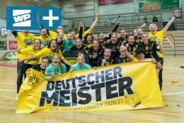 BVB-Handballerinnen: Als Meister einmal um den Borsigplatz