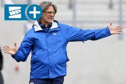 Schalke-Trainer Elgert will keine Nummer eins hinausposaunen