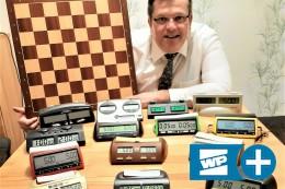 Schach: Andreas Schell ist Herr über 8 Uhren und 256 Figuren