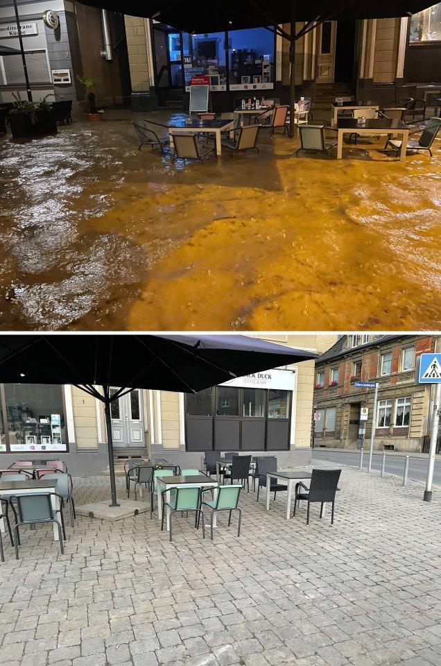 Eine Woche nach dem Hochwasser: An dieser Stelle in Hagen scheint am Mittwoch, 21. Juli, die Welt wieder normal. Kaum zu glauben, wie hoch das Wasser in der Nacht des 14. Juli dort stand.